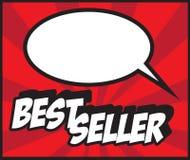 Bestseller do fundo da banda desenhada! selo do escritório do pop art do cartão do sinal ilustração stock