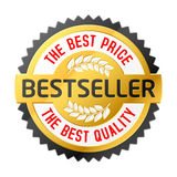 Bestseller emblem. The best price and quality emblem. Vector illustration Royalty Free Stock Images