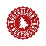 BESTSELLER Grunge Stamp Seal with Fir-Tree stock illustration