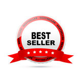 Bestseller label. On a white background royalty free illustration