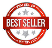 Bestseller label seal Royalty Free Stock Photo