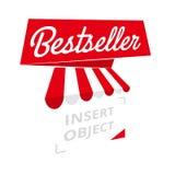 Bestseller - red ribbon banner, vector template Stock Photo