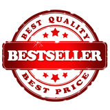 Bestseller red satmp royalty free stock images