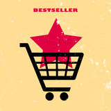 Bestseller retro poster Royalty Free Stock Photography