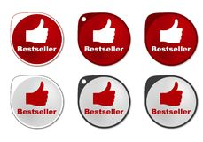 Bestseller round sticker Stock Photography