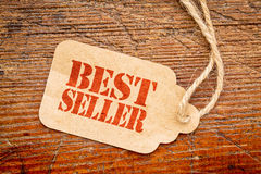 Bestseller sign  on a price tag Stock Images