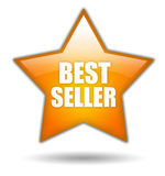 Bestseller star icon stock illustration
