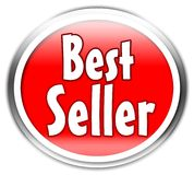 Bestseller sticker. Red Bestseller sticker isolated over white background Royalty Free Stock Image