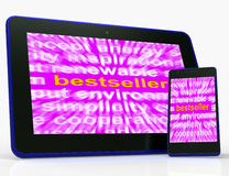 Bestseller Tablet Means Hot Favourite Or Most Popular Stock Photos