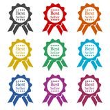 Bestseller Tasiemkowa ikona, kolor ikony ustawiać ilustracja wektor