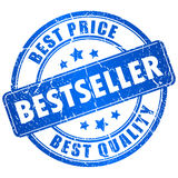 Bestseller vector stamp. Bestseller stamp isolated on white Royalty Free Stock Images