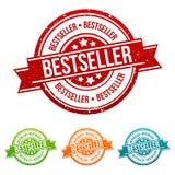 Bestselleru znaczek - Onlineshopping odznaka w różnych colours Fotografia Stock
