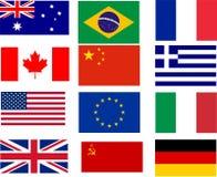 Bestselling флаги Стоковые Изображения RF