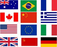 Bestselling flags Stock Image