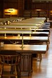Bestudeer ruimte in de bibliotheek royalty-vrije stock foto