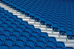 Close up of the seats at Edinburgh Military Tattoo. Abstract close up of the blue seats at the arena of the Edinburgh Military Tattoo in Scotland royalty free stock image
