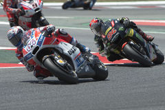 Bestuurder Andrea Dovizioso Ducatiteam De Grand Prix van de monsterenergie van Catalonië Royalty-vrije Stock Afbeeldingen