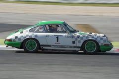 Bestuurder Beltran Porsche 911 2 Schrijver uit de klassieke oudheid en legendekop Stock Foto