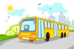 Bestuurder in de Bus van de School Royalty-vrije Stock Foto's