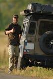Bestuurder en Expeditievoertuig Stock Fotografie