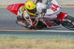 Bestuurder Jorge Hernandez Honda CBR250R Stock Foto's