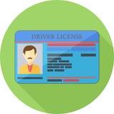 Bestuurder License Flat Icon Stock Fotografie
