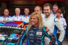 Bestuurder Liesette Braams Het Rennende Team van Lasmoras Royalty-vrije Stock Foto's