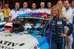 Bestuurder Liesette Braams Het Rennende Team van Lasmoras Stock Fotografie
