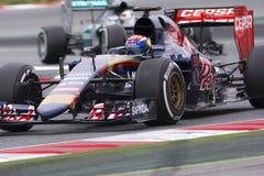 Bestuurder Max Verstappen Team Toro Rosso F1 Stock Afbeelding