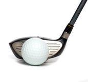 Bestuurder met Golfbal stock foto