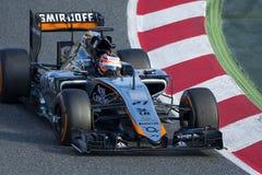 Bestuurder Nico Hulkenberg Team Force India Royalty-vrije Stock Foto