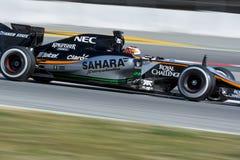 Bestuurder Niko Hulkenberg Team Sahara Force India F1 Stock Foto