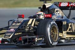 Bestuurder Pastor Maldonado Team Lotus Royalty-vrije Stock Afbeelding