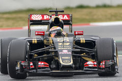 Bestuurder Pastor Maldonado Team Lotus F1 Royalty-vrije Stock Afbeelding