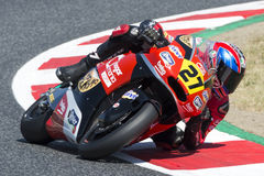 Bestuurder Roberts, Joe, Dimas Moto3 AGR Team FIM CEV Repsol Stock Foto's