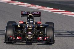Bestuurder Romain Grosjean Team Lotus F1 Stock Afbeeldingen