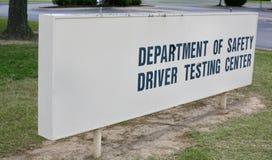 Bestuurder Testing Center stock afbeeldingen