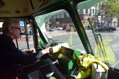 Bestuurder van trams met twee uiteinden i van PCC van San Francisco originele Royalty-vrije Stock Foto's