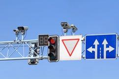 Bestuurs systeem van de wegmotie Stock Afbeeldingen