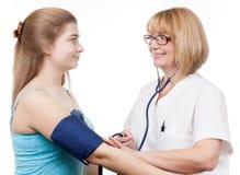 Besuch des Ärztlichen Diensts Stockbild