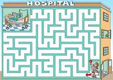 Besuch in einem Krankenhaus Lizenzfreies Stockfoto
