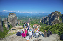 Besuch Meteora, Griechenland stockbild