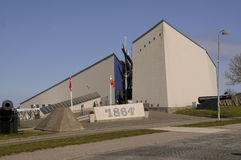 BESUCH ZU DYBBOL BANKE SONDERBORG Lizenzfreies Stockbild