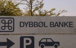 BESUCH ZU DYBBOL BANKE SONDERBORG Stockfotografie