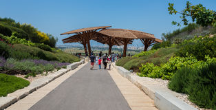 Besuch zu Hiriya (Ariel Sharon-Park) Stockfotografie