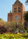 Besuch zur Caleruega-Kirche Stockbilder