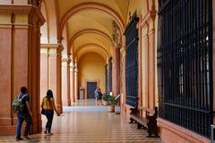 Besuchen des Alcazar von Sevilla Lizenzfreies Stockfoto