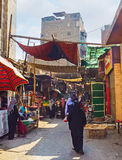 Besuchen des Marktes Lizenzfreies Stockbild