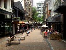 Besucher in Auckland CBD - Neuseeland stockfotos