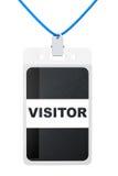 Besucher-Ausweiskarte Stockfotografie